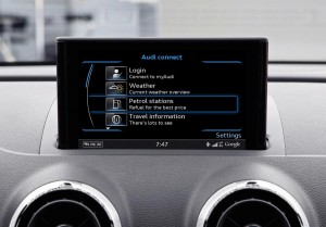 Audi A3 connect fuel screen