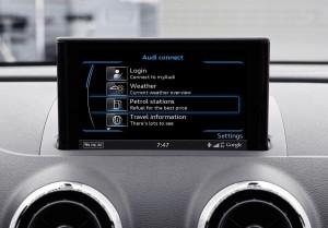 Audi A3 connect fuel screen