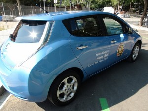 Blue Electric Car