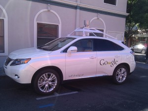 Google self-driving car in Mountain View