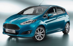 Electric Blue Ford Fiesta