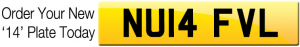 Order Now for 2014 March New Plate Registrations