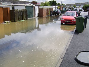 Flooding on the Knaves Hill estate