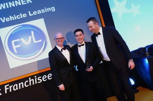 Andy Watson, Business Development Manager at FVL accepts award