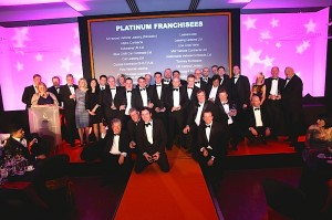 Andy Watson, Business Development Manager at FVL with other award winners