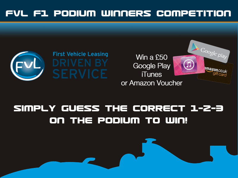 Enter the FVL F1 Podium Winners Competition
