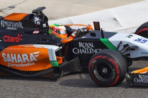 Sahara Force India in Practice at Melbourne. Courtesy of Sahara Force India