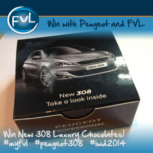 Win Car of the Year 2014 Chocolates in our prize draw!