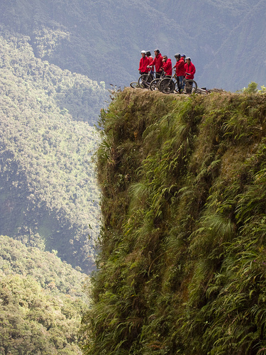Death Road in Bolivia