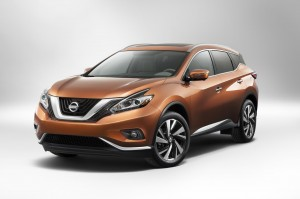 Nissan Murano,  metallic bronze colour crossover