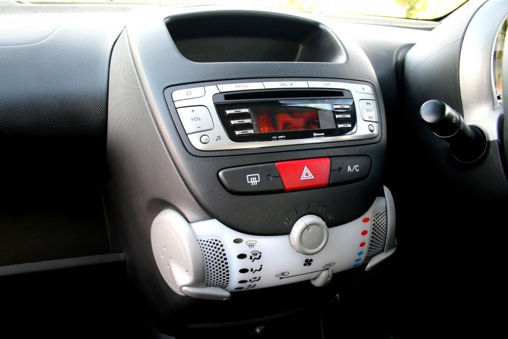 Interior of Peugeot 107