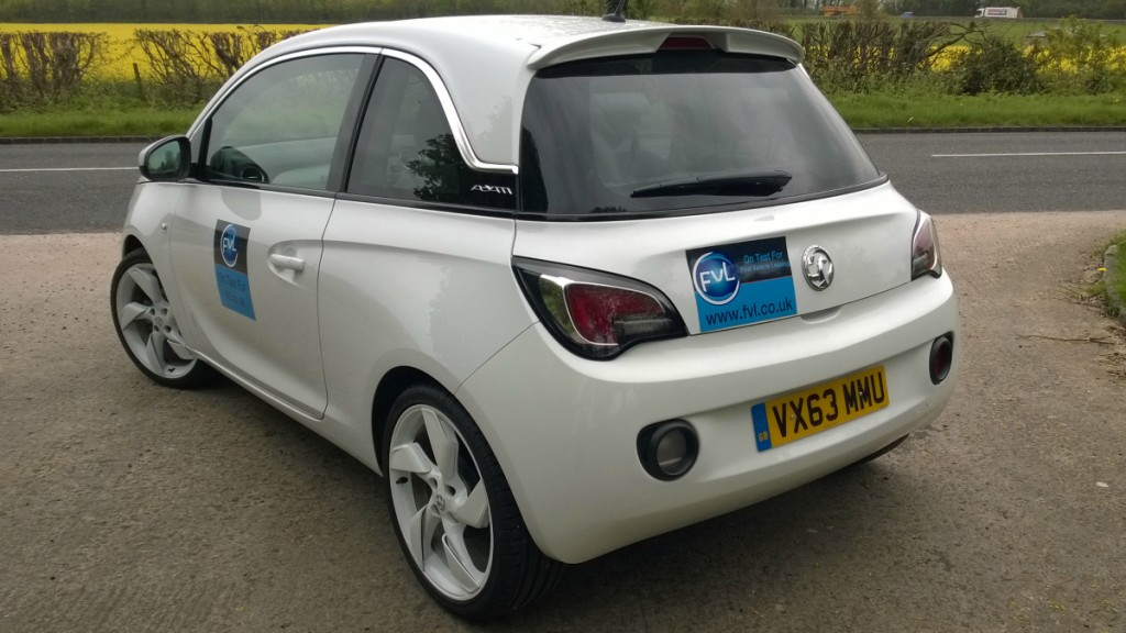 Side view of Vauxhall Adam White Edition