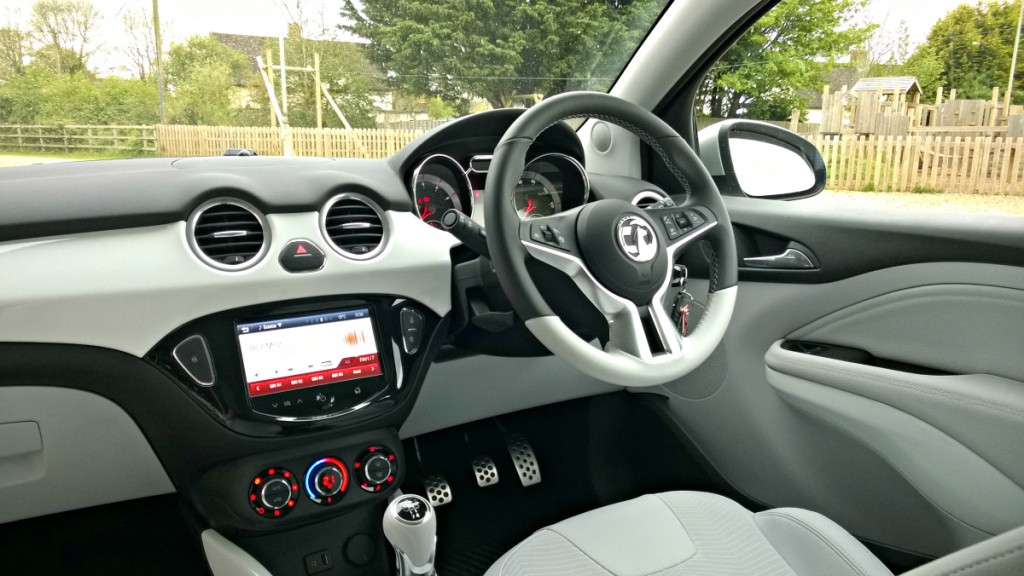 Interior in Vauxhall Adam White Edition