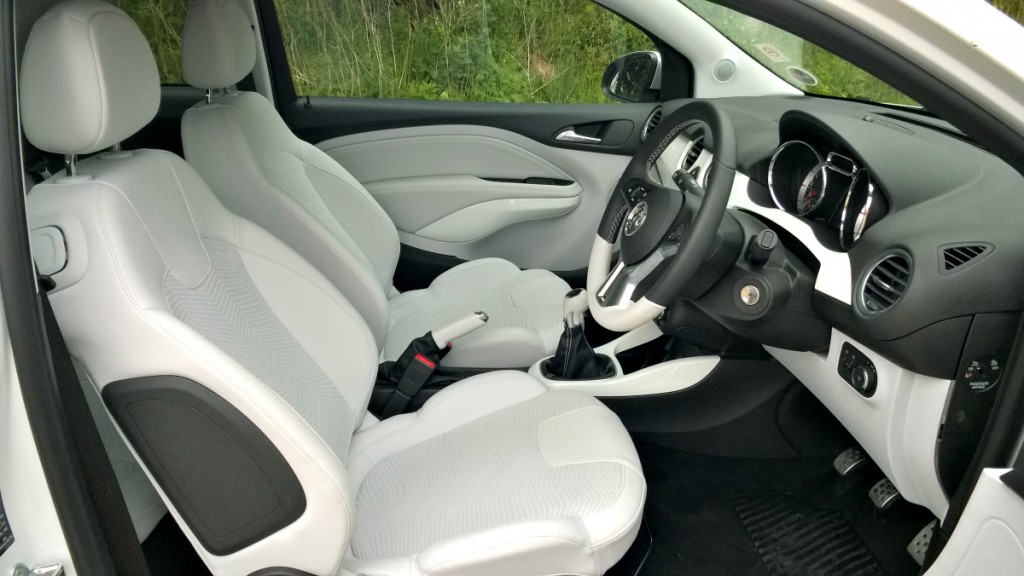 Interior Front in Vauxhall Adam White Edition