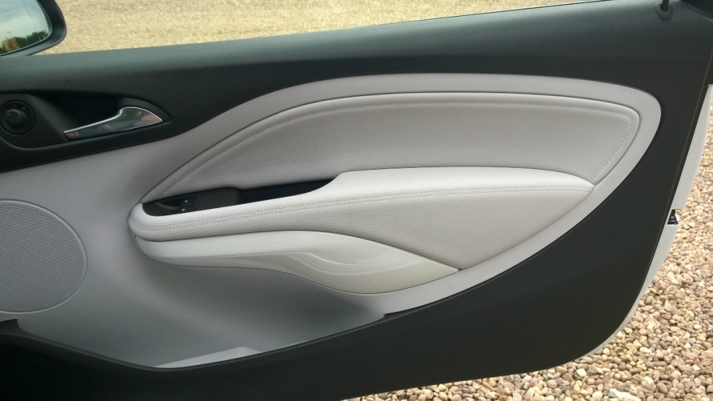 Door interior detail in Vauxhall Adam White Edition