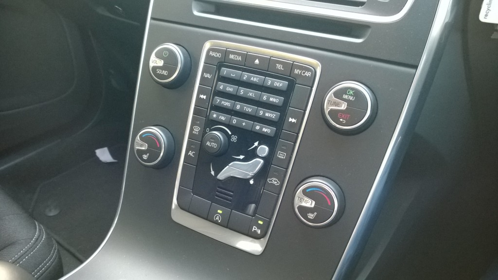 control panel of silver blue executive car