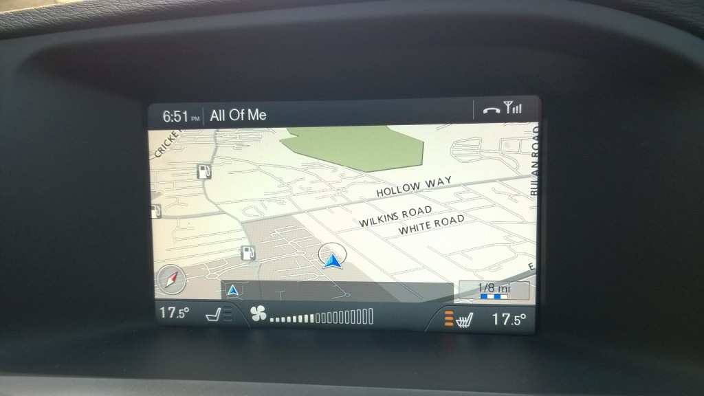 Satnav in executive car