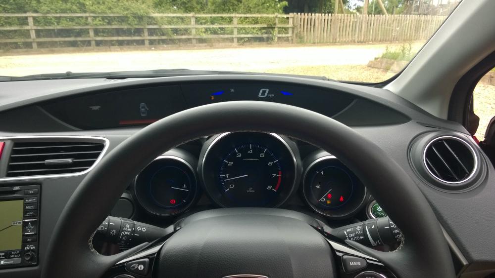 Honda Civic Tourer review: Dashboard Instruments