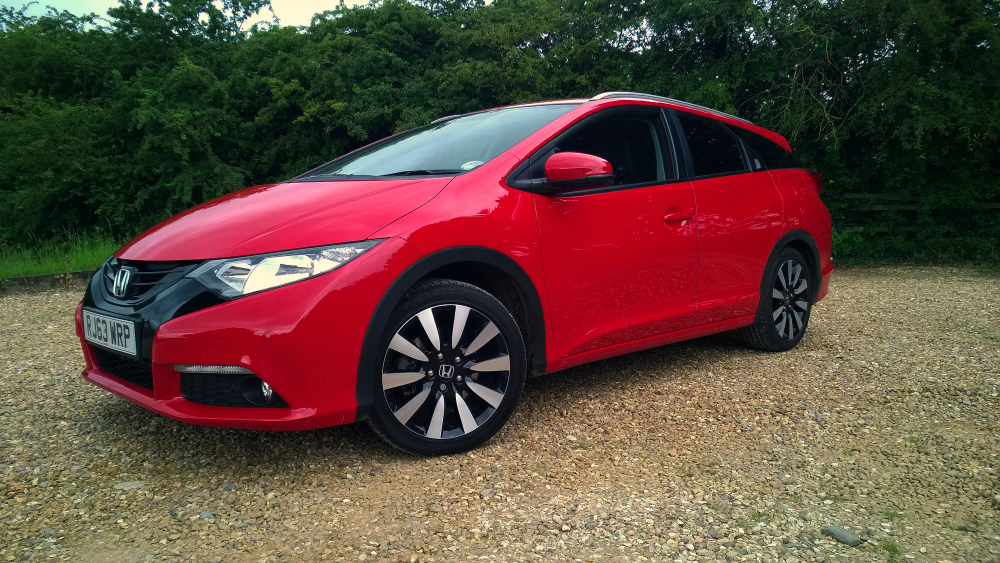 Honda civic tourer full on the road review for How much to lease a honda civic