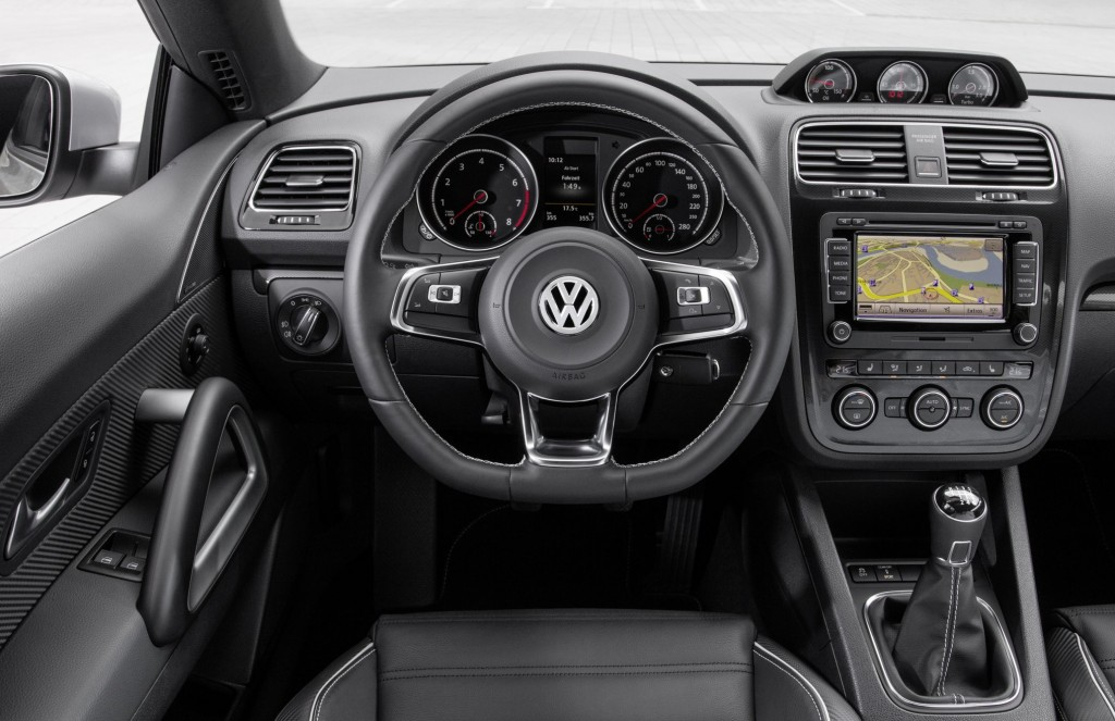 Interior of new Volkswagen Scirocco