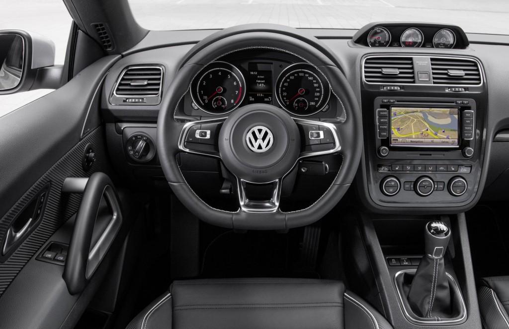 Interior of new Volkswagen Scirocco