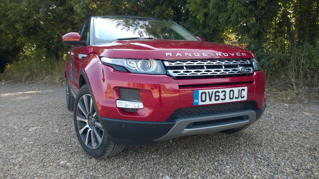Front view of the Evoque