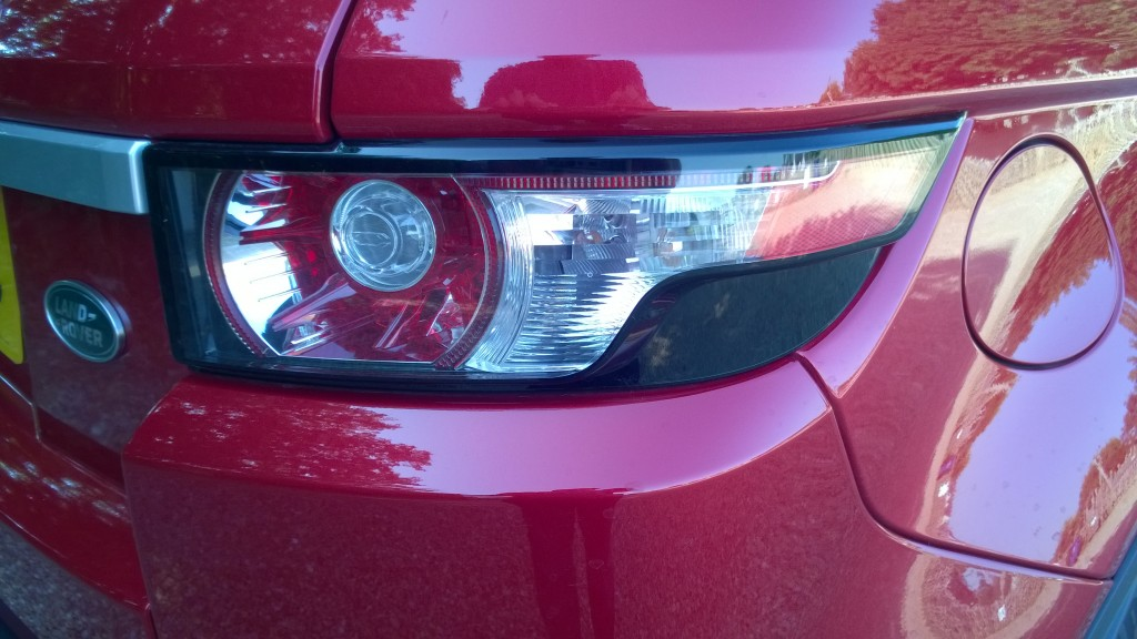 Rear light cluster on the Evoque