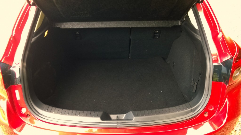Boot space in Mazda 3