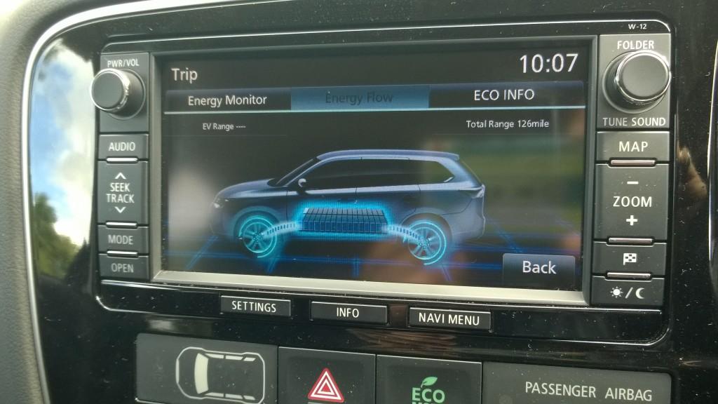 Mitsubishi Outlander PHEV Information touchscreen