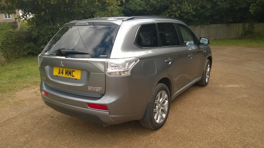 Mitsubishi Outlander PHEV Rear and Side View