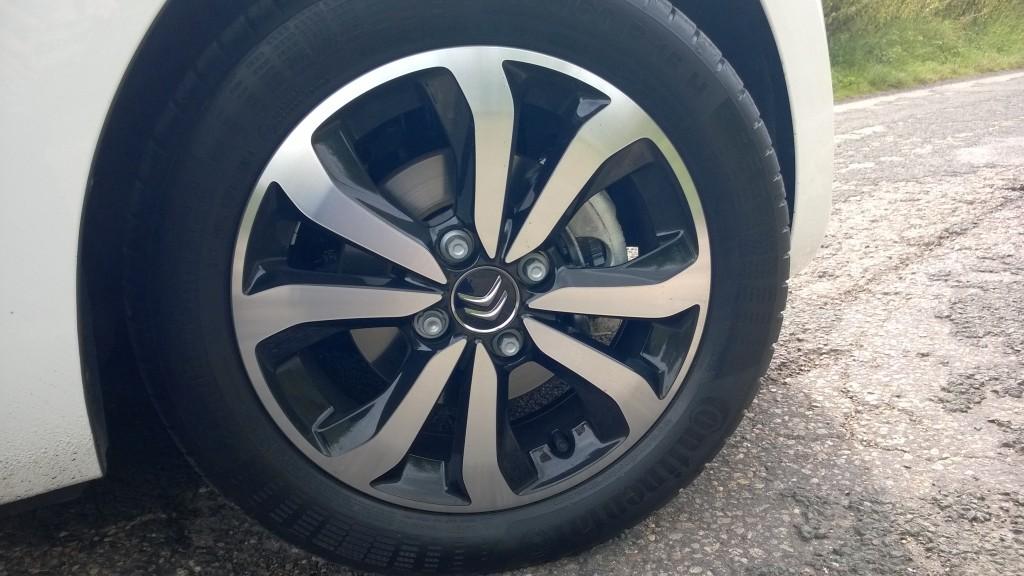 Citroen C1 alloy detail. Click for hi-res image