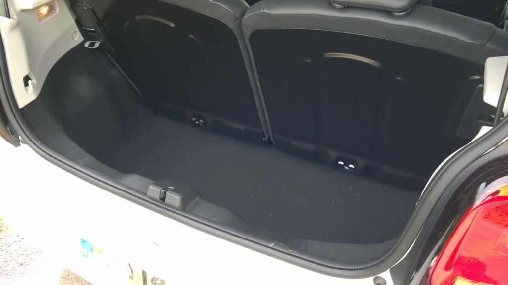 Citroen C1 boot space. Click for hi-res image