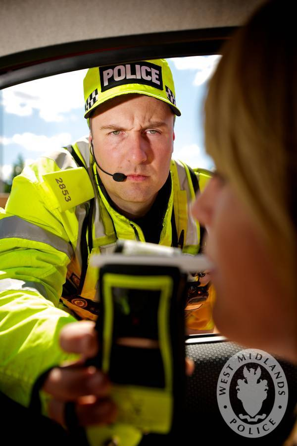 Breathalysing Driver