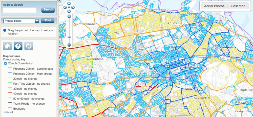 Edinburgh 20mph road proposals