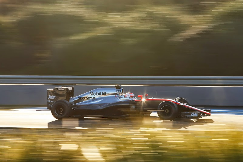 Jenson Button in the Mclaren-Honda at Jerez