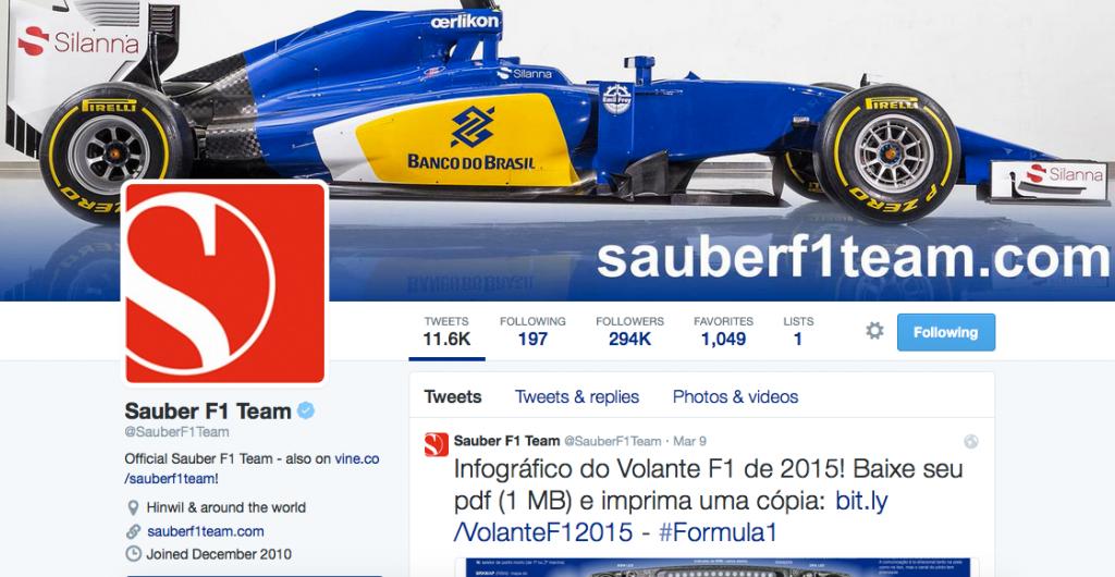 Sauber on Twitter