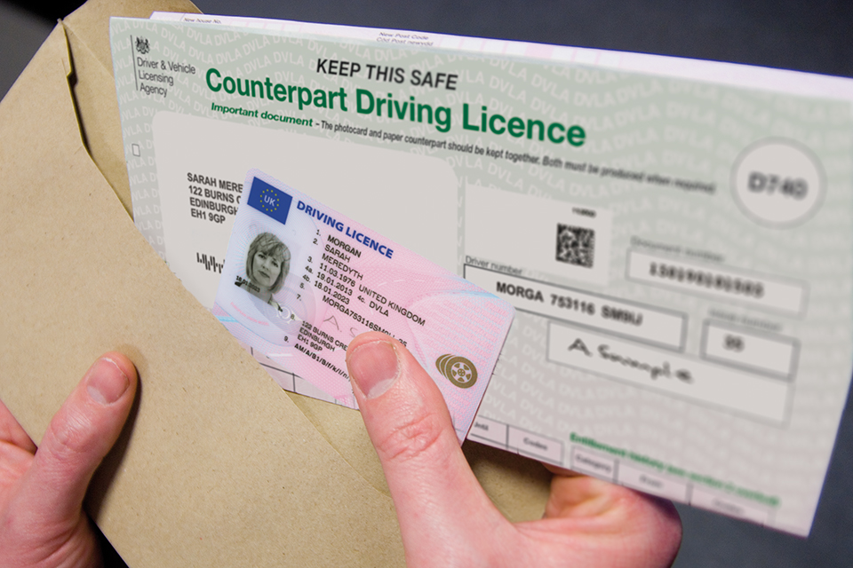 Updating your drivers licence