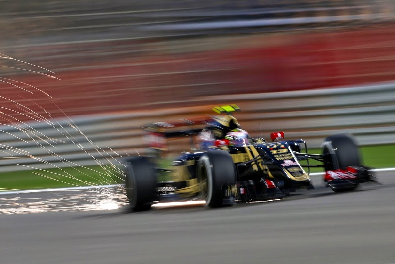 Pastor Maldonado's Lotus at the Bahrain Grand Prix.