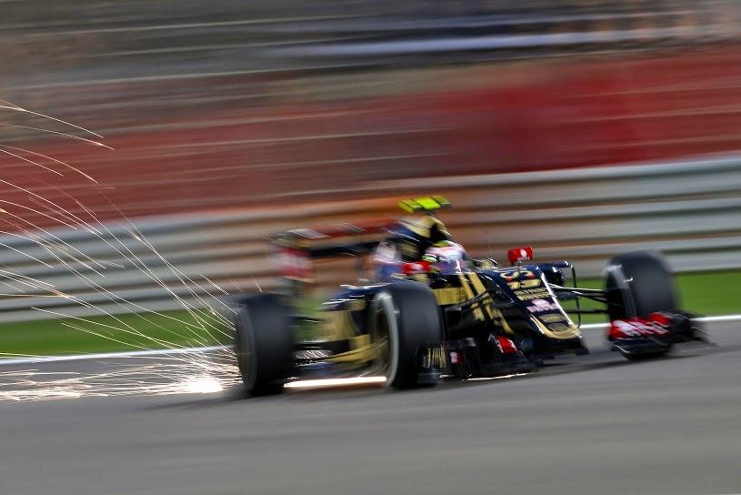 Pastor Maldonado's Lotus at the Bahrain Grand Prix.
