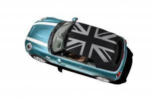 New Mini Convertible Union Jack roof first vehicle leasing 2