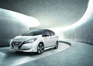 The new Nissan Leaf features pioneering technology.