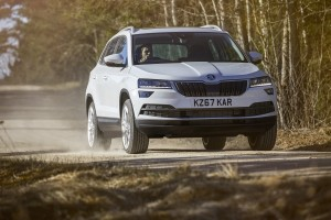 The excellent Skoda Karoq is a well-priced small SUV.