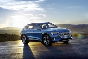 The Audi e-tron is the firm's first all-electric offering.