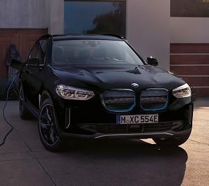 The BMW iX3 charging.