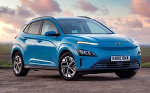 Hyundai Kona Electric car lease front.
