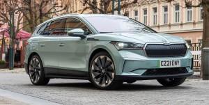Skoda Enyaq iV car lease front