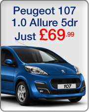 Peugeot 107 Allure 5dr Just �84.99