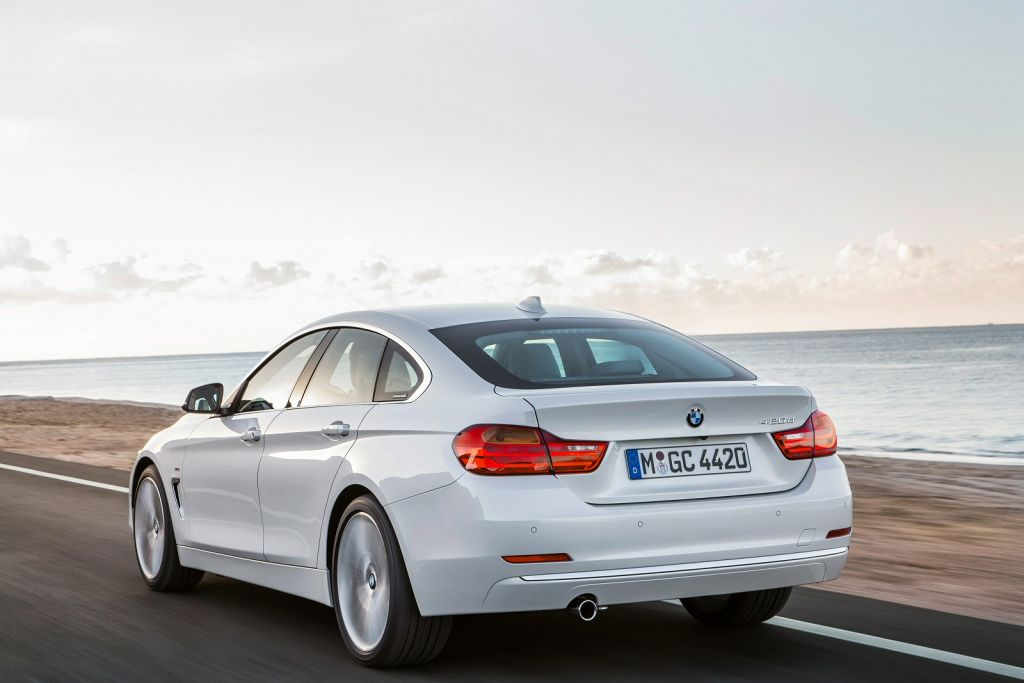 BMW 4 Series Gran Coupe Sea White Executive car